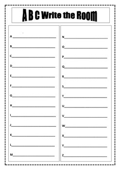 ABC Write the Room Freebie Literacy Centers (First Grade)