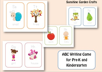 ABC Writing Game for Pre-k and Kindergarten