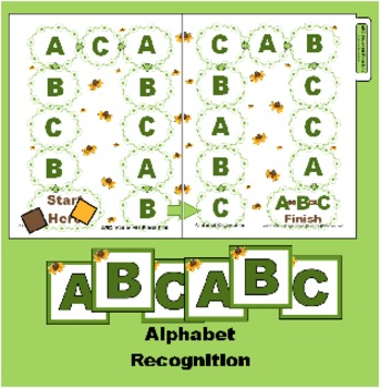 ABC You at the Finish Line Board Game-  Folder Alphabet Re