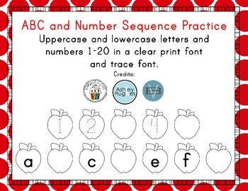 ABC and Number Sequence Practice