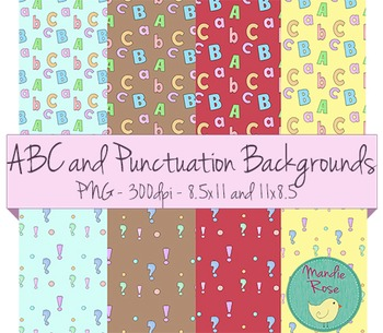 ABC and Punctuation Backgrounds
