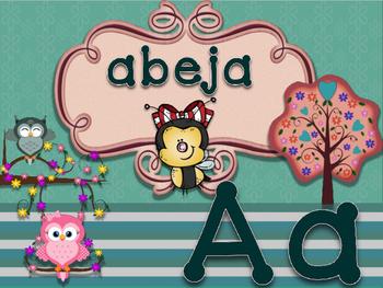 ABC buhos espanol manuscrito