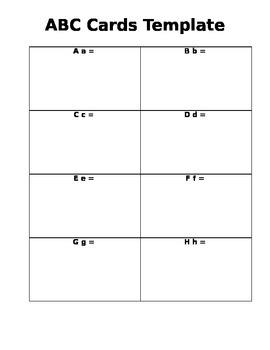 ABC cards blank