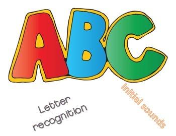 ABC initial sounds/letter recognition puzzle