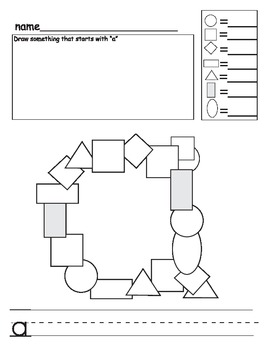 ABC letter mosaic (and counting and fine motor) activity (A-M)