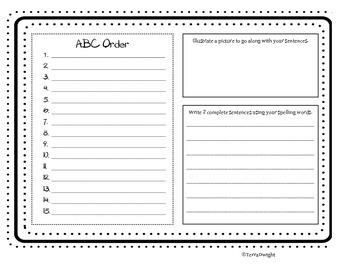 ABC order Handout