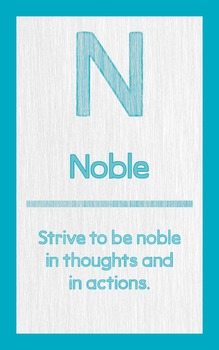 """ABC's of Character - Letter """"N""""- Poster"""