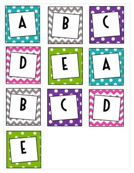 ABCDE labels for labeling table spots