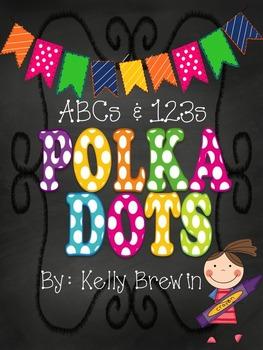 ABCs & 123s [Chalk] POLKA DOT {KIDS} Set