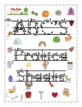 ABC's Practice Sheets