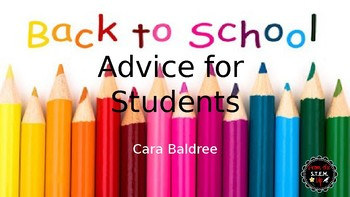 ABC's of Advice for Junior High Students (End of Year & Ba