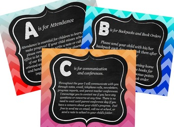 ABC's of Back to School for ActivBoard Chalkboard theme