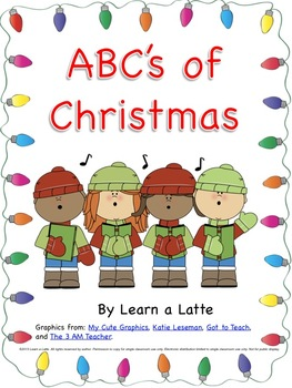 ABC's of Christmas Book (Secular Version in Color, B&W, an