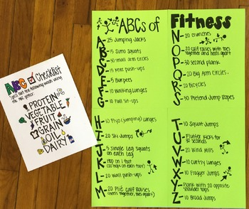 ABCs of Fitness Poster