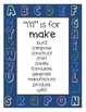 Classroom Writing Word Wall Mini Posters: Over-Used Verbs