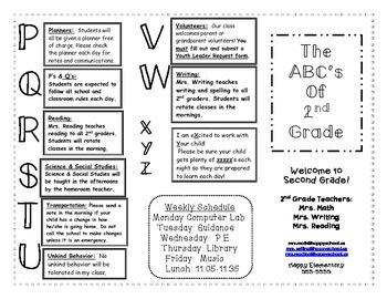 ABC's of School: Back to School Brochure