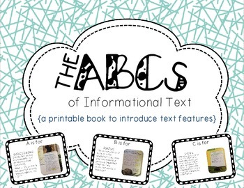 Text Features ABCs: An Introduction to Nonfiction and Info