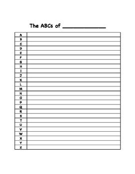 ABCs of ________