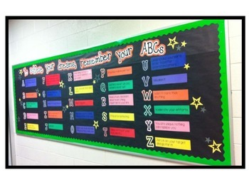 ABCs to Achieve Your Dreams Bulletin Board- printable template