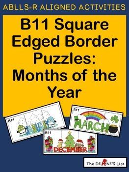 ABLLS-R  ALIGNED ACTIVITIES B11 Square edged border puzzle