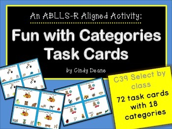 ABLLS-R ALIGNED ACTIVITIES C39 Category Task Cards