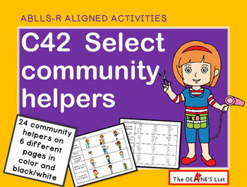 ABLLS-R ALIGNED ACTIVITIES C42 Select Community Helper