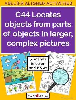 ABLLS-R  ALIGNED ACTIVITIES C44 Locates objects from parts