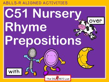 ABLLS-R  ALIGNED ACTIVITIES C51 Nursery Rhyme Prepositions