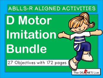 ABLLS-R ALIGNED ACTIVITIES D Motor Imitation Bundle