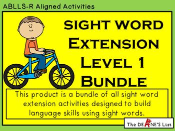 Sight Word Extension Complete Level 1 Bundle