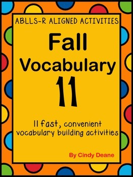 ABLLS-R ALIGNED ACTIVITIES Fall Vocabulary 11
