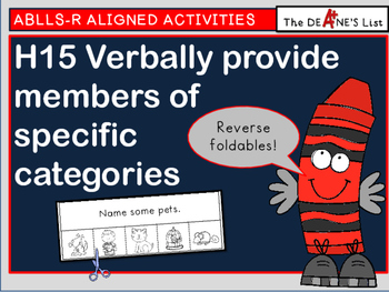 ABLLS-R  ALIGNED ACTIVITIES H15 Verbally provide members o