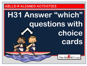 """ABLLS-R ALIGNED ACTIVITIES H31 Answering """"which"""" question"""