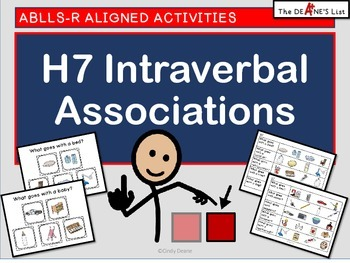 ABLLS-R ALIGNED ACTIVITIES H7 Intraverbal Associations