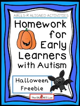 ABLLS-R ALIGNED ACTIVITIES Halloween Homework for Early Le