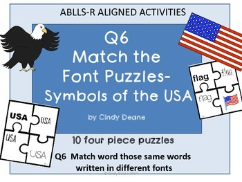ABLLS-R ALIGNED ACTIVITIES Q6 Match the font puzzles-Symbo