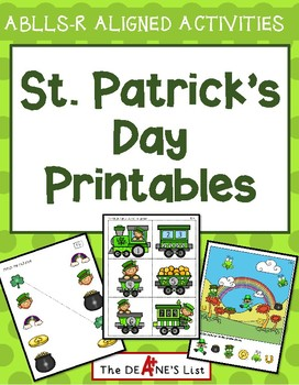 ABLLS-R ALIGNED ACTIVITIES St. Patrick's Day Printables