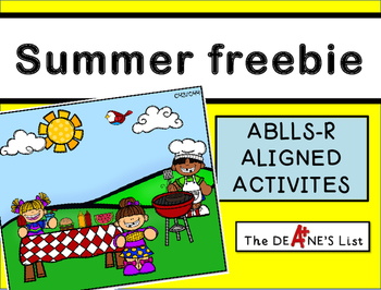 ABLLS-R ALIGNED ACTIVITIES Summer Freebie