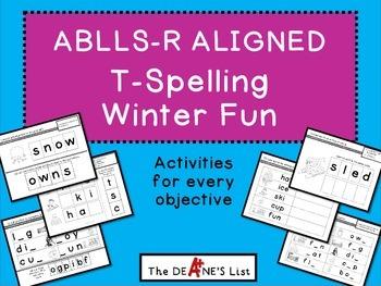 ABLLS-R ALIGNED ACTIVITIES T- Spelling Activities Winter Fun