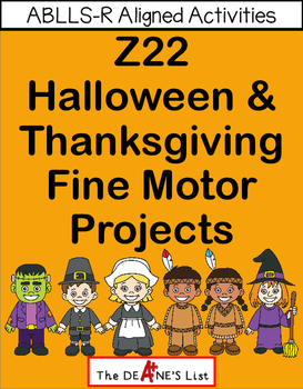 ABLLS-R ALIGNED ACTIVITIES Z22 Halloween & Thanksgiving F