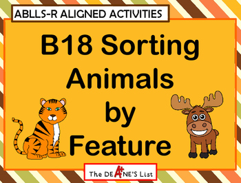 ABLLS-R ALIGNED B18 Sorting Animals by Feature