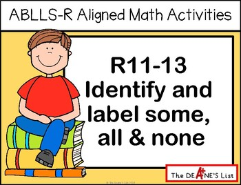ABLLS-R ALIGNED MATH ACTIVITIES R11-13 Identify and label
