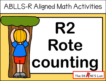 ABLLS-R ALIGNED MATH ACTIVITIES R2 Rote counting
