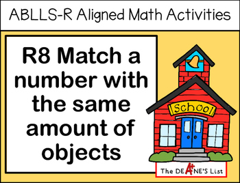 ABLLS-R ALIGNED MATH ACTIVITIES R8 Match a number with an