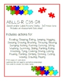 Select and/or Label Actions Verbs Language Cards ABLLS-R C35 G8