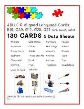 ABLLS-R B19 Sort by Class Module Cards