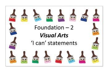 ACARA based Visual Arts 'I can statements' Prep/Foundation