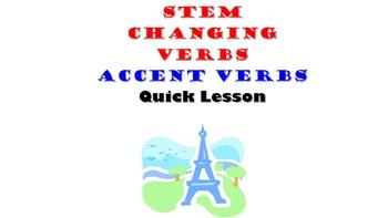 Acheter, Amener, Preferer, Esperer (ACCENT verbs): French