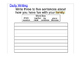 ACCESS 1.4 Paragraph Writing Prompt ELL ESL First Second G