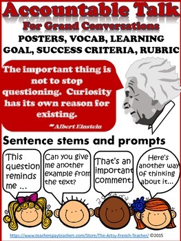 ACCOUNTABLE TALK - For Grand Conversations: posters, vocab